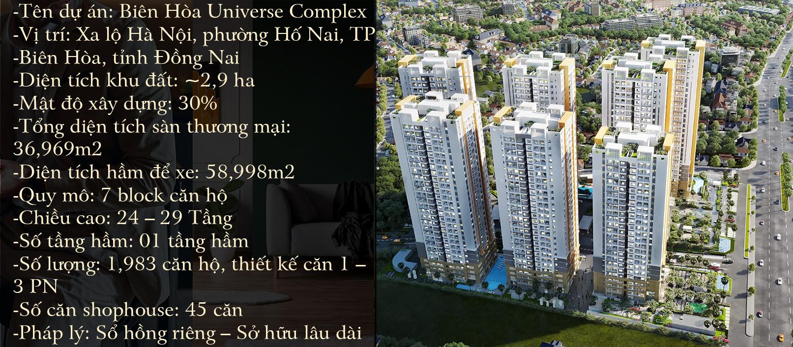Thông tin tổng quan dự án biên hòa universe
